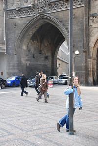 Anna By a Prague Tower 1