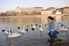 Anna and Swans in Prague 15