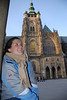 Anna and Prague Castle Cathedral 3