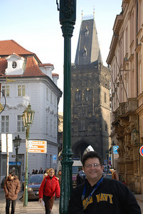 Tony By a Prague Tower 2