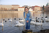 Anna and Swans in Prague 14