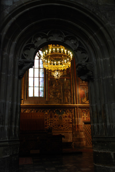 Inside Prague Castle Cathedral 11