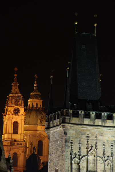 Prague Towers at Night 3