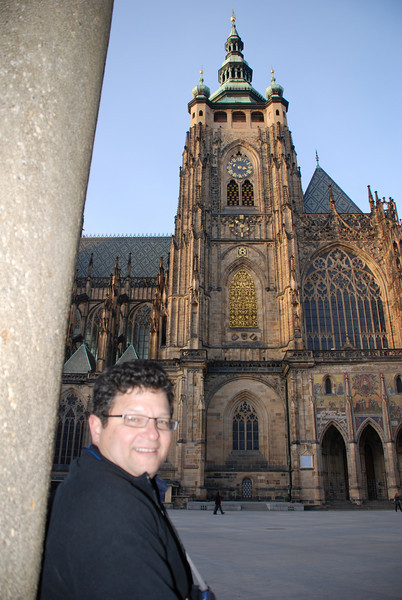 Tony and Prague Castle Cathedral 6