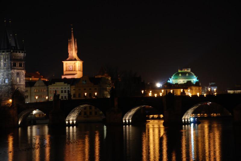 Prague Night Scene Near Water 12
