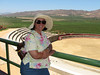 We took a day excursion to a couple of wineries inland from Ensenda -- not what I would expect to find in that arid climate, but the moist sea air coming up the valley actually makes it a good place to grow grapes. Here Col is overlooking a bullfighting ring, with the vineyards behind.