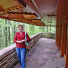 Jean on the rear patio at Kentuck Knob.