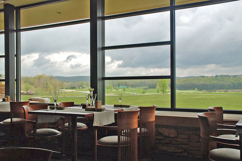 The view from Aqueous, the restaurant at Falling Rock.