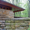 Detail of the Kentuck Knob house.