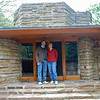 Ray and Jean Finkleman at the front entry of Kentuck Knob.