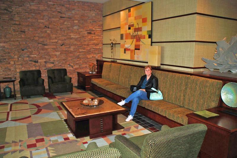 The lobby of Falling Rock, Nemacolin Resort.