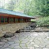 Rear courtyard at Kentuck Knob.
