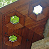 Hexagonal skylights at Kentuck Knob.