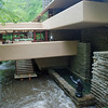 The Bear Run Stream flows under the living room at Fallingwater.