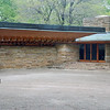 The front entrance of the Kentuck Knob house.
