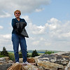 Jean stands at the highest point at Nemacolin Resort.