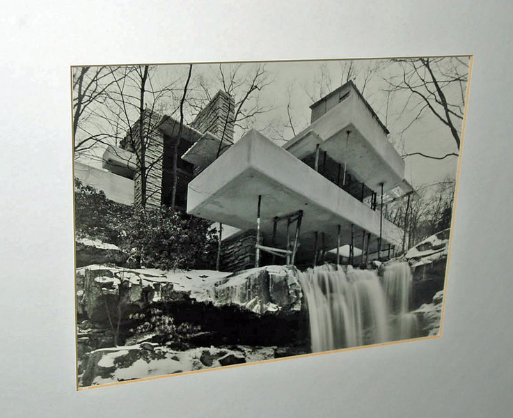 Fallingwater under construction.
