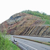 Detail of the geologic layering on Sideling Hill.