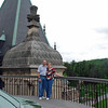 Ray and Jean atop the roof of the Biltmore House.