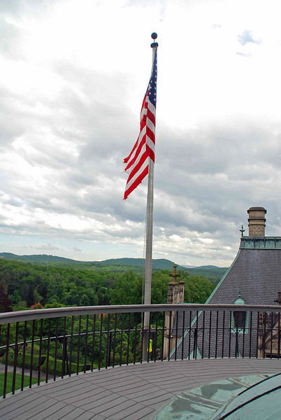 Atop the roof of the Biltmore House.