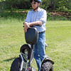 Ray awaits his turn for segway training.