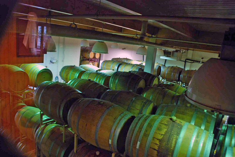Wine casks stored at the winery at Biltmore Estate.