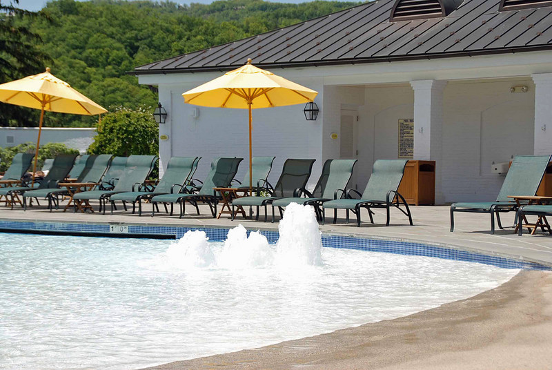 The outdoor pool at the Greenbrier.
