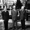 "Greenbrier Postcard: ""Mexican President Cortines, President Eisenhower, and Canadian Prime Minister St. Laurent pictured at The Greenbrier for the North American Summit Conference Meeting, March 26, 1956.  Under the cover of this meeting, U.S. government officials reached an agreement to proceed with the emergency relocation facility for Congress."""