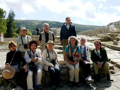 "Crete April 2014 with Elissa Landre ""Group photo at Knossos"""