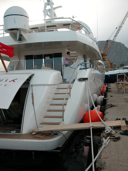 m/y Phoenix, we are giving it the 'finishing touch' here...