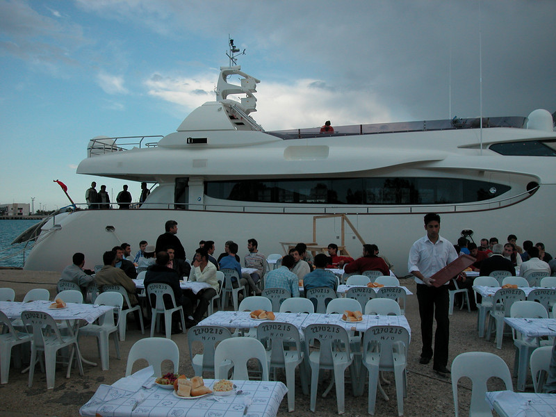 On the backround you see m/y 'Phoenix'.