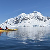 Kayaking allowed a different opportunity to enjoy the impressive Antarctic scenery on another beautiful day.  Paradise Bay.<br /> January 13, 2017