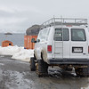 Truck equipped for the conditions at Chile's Frei Antarctic station.