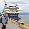 Beth getting ready to board the National Geographic Explorer, Dec. 8, 2017.