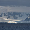 A Quark Expeditions ship passing us in late afternoon.<br /> December 12, 2017.