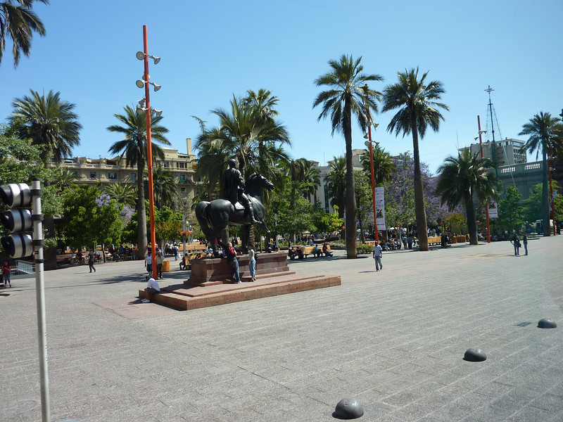 Another square in Santiago