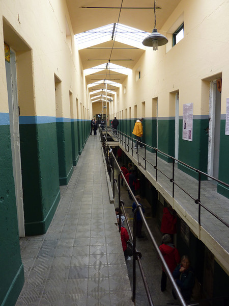 The upper floor of the Prison Museum