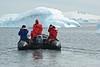 Exploring near Cuverville Island, Antarctica