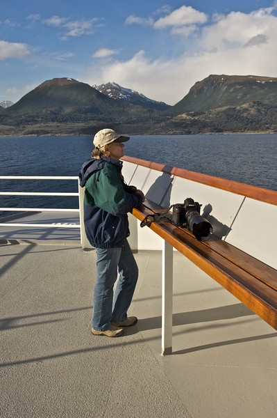 Jenny supervising our passage out of the Beagle Channel