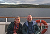 Jenny and Ched in the Beagle Channel aboard the National Geographic Explorer (Photographer unknown)