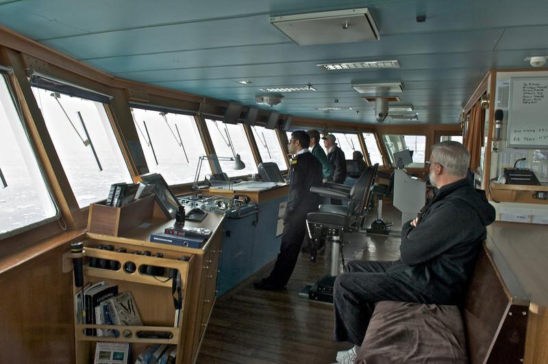 Phil supervises navigation aboard NG Explorer