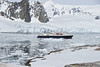 NG Explorer at anchor, Port Lockroy