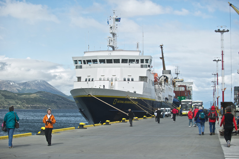 National Geographic Explorer in Ushuaia, Argentina