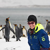 I am at St. Andrew's Bay with the King Penguins in the background.   They are watching the zodiacs land!