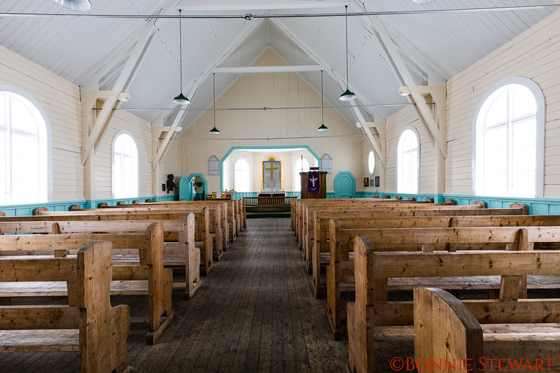 Inside the Lutheran Church built in 1913 by the old whaling community in Grytviken