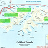 Map of the landings 9, 10, 11, 12, in the Falkland Islands