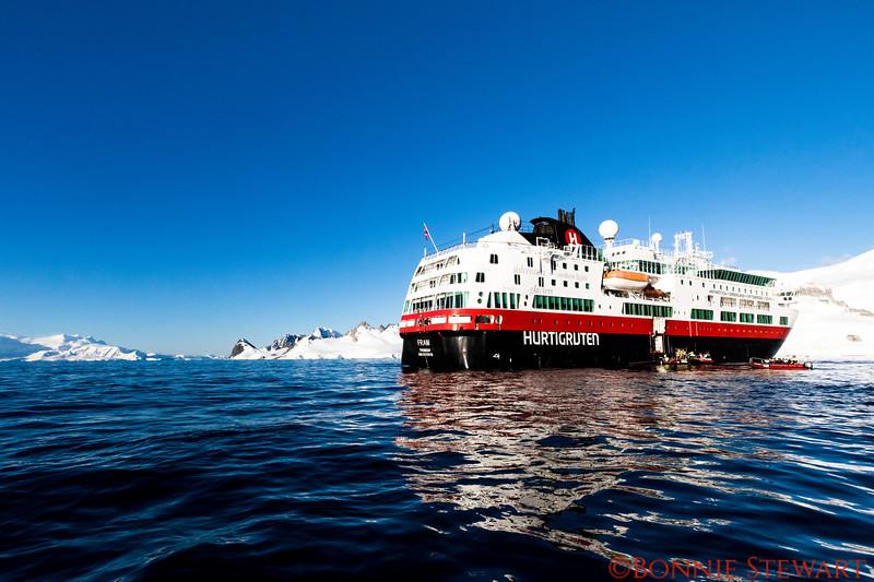 Hurtigruten Ship, MS Fram, that sailed to Antarctica