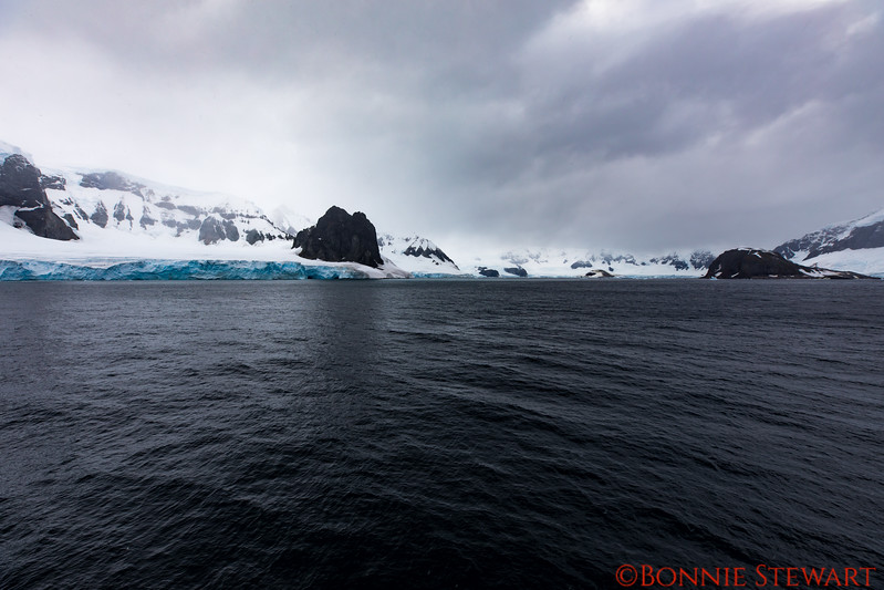 Arriving in Antarctica - the first sighting of land in overcast weather