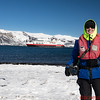 My photo at Deception Island with the MS Fram in the background