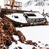 More relics of the former whaling town of Grytviken.   Shackleton spent a month  in 1914 in this town before sailing the endurance for his planned Trans-Antarctica Expedition.  The ship was crushed in the Weddell Sea.   He and five men spent 18 months getting back to South Georgia to seek rescue for the rest of his 21 men stranded on Elephant Island.  The town was abandoned in 1965.